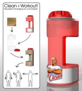 upcyclen verpakkingen - de verpakking als fitnesstool